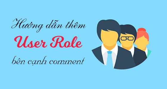 hướng dẫn thêm user role bên cạnh comment