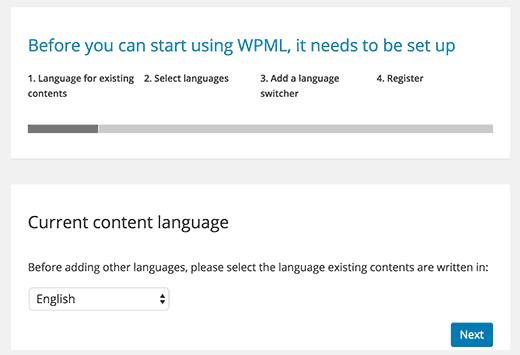 cài đặt WPML