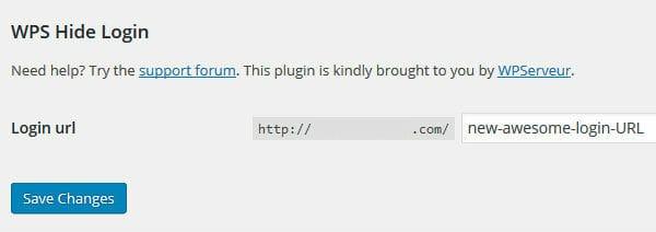 Thay đổi URL login mặc định