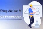 Hướng dẫn sửa lỗi 403 forbidden