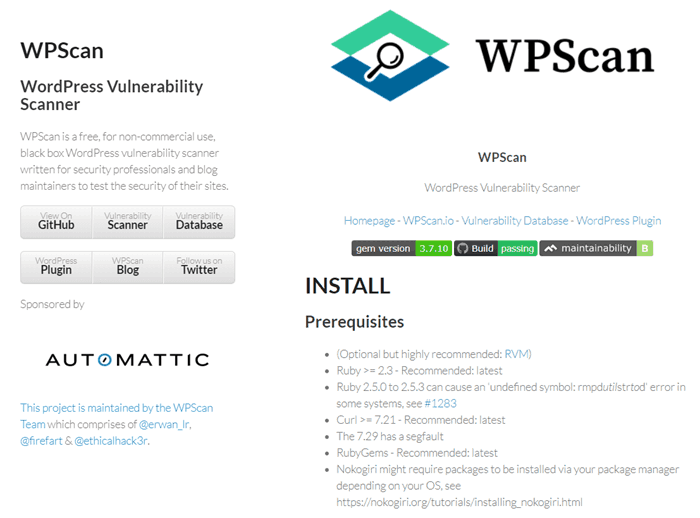 WPScan-WordPress-Vulnerability-Scanner