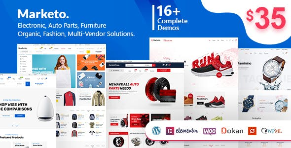 Marketo eCommerce & Multivendor Marketplace Woocommerce WordPress Theme