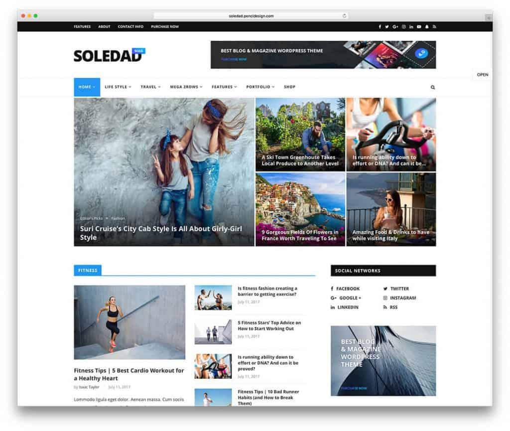 Soledad Magazine Theme