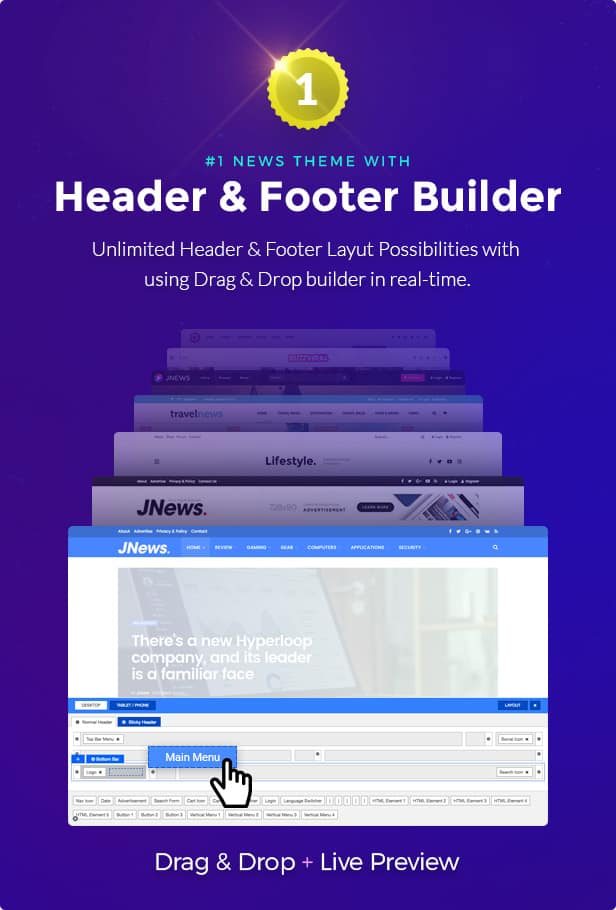 Jnews-Header-Footer-Builder
