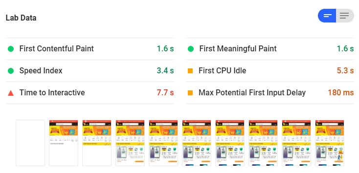 Lab-Data-Google-PageSpeed-Insight