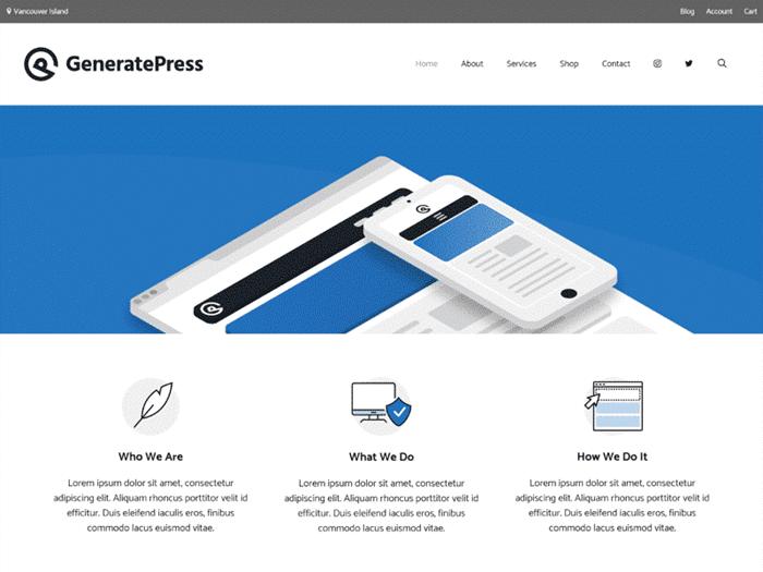 GeneratePress-theme-nhanh-nhat