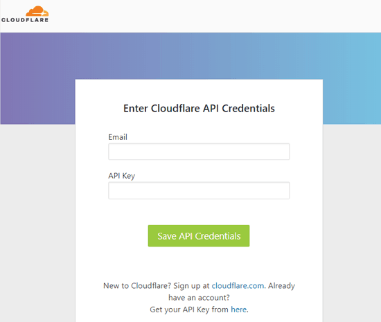 Cloudflare-API-credentials