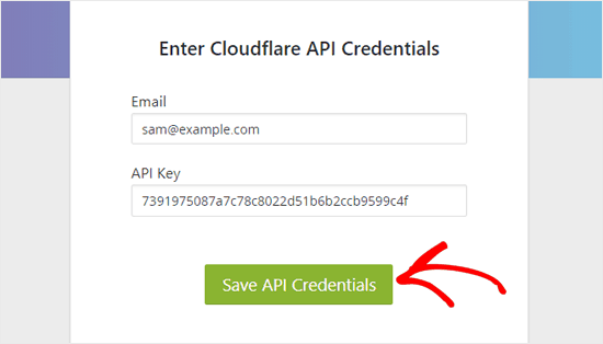 Enter-Cloudflare-API-credentials-cloudflare