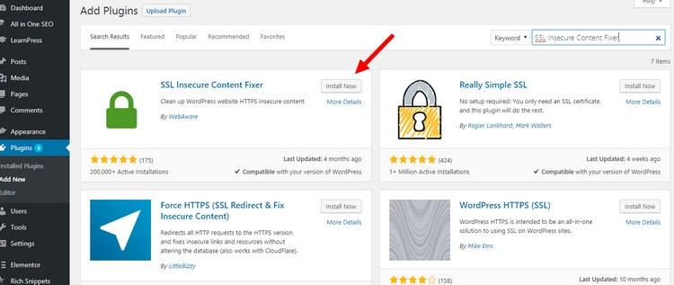SSL-insecure-content-fixer
