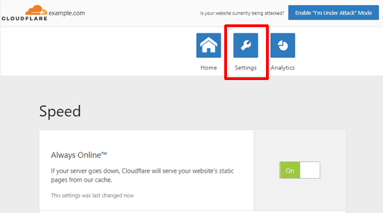 cloudflare-for-wordpress-settings