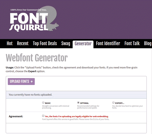 Fontsquirrel-webfont-generator