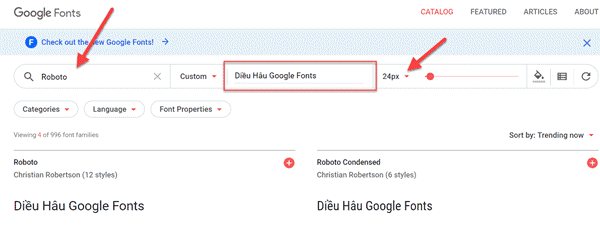 Google-Fonts-library