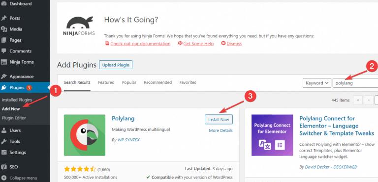 cài đặt PolyLang