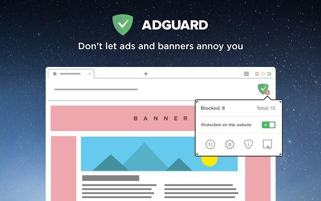 tiện ích mở rộng adguard