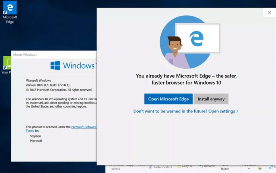 """Người dùng Windows 10 bị """"nài nỉ"""" cài trình duyệt Microsoft Edge"""