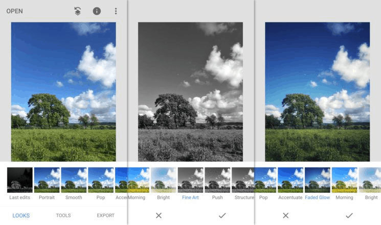 ứng dụng chụp ảnh snapseed