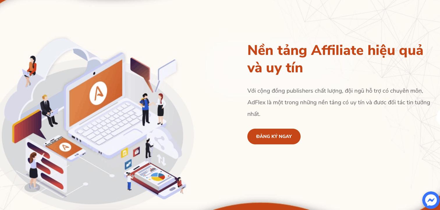 Adflex Affiliate Network tại Việt Nam.