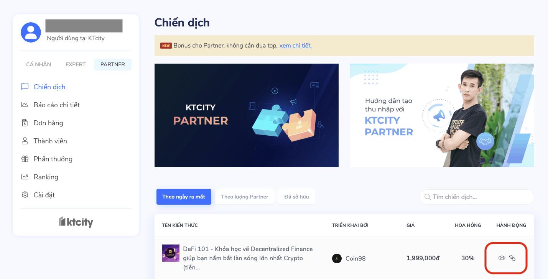 Lấy link ref để kiếm tiền online cùng KTcity.