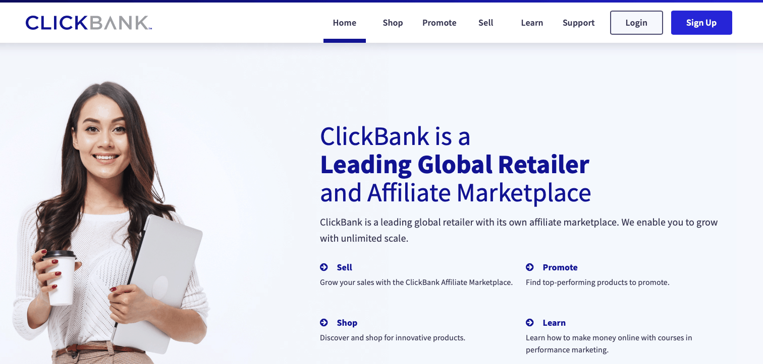 Clickbank Affiliate Network.