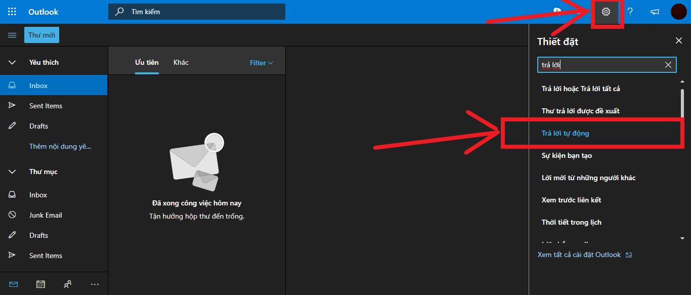 Các thủ thuật để tận dụng triệt để Outlook trên web